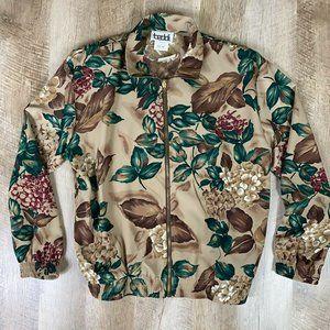 NWT Vtg Teddi Printed Jacket 1990s JCP Wm Sz PM